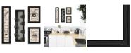 "Trendy Decor 4U Kitchen Collection VII 4-Piece Vignette with 7-Peg Mug Rack by Millwork Engineering, Black Frame, 11"" x 33"""