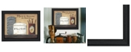 """Trendy Decor 4U Meals and Memories By Pam Britton, Printed Wall Art, Ready to hang, Black Frame, 19"""" x 15"""""""