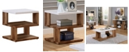 Furniture of America Matched Open Shelf End Table