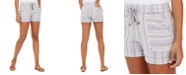 Style & Co Striped Linen-Blend Shorts, Created for Macy's