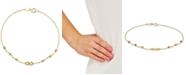 Macy's Diamond Infinity & Textured Bead Link Bracelet in 10k Gold