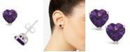 Macy's Blue Topaz (2  ct. t.w.) Stud Earrings in Sterling Silver. Also Available in Amethyst (1-1/3 ct. t.w.)