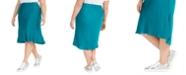 INC International Concepts I.N.C. Plus Size Bias-Cut Midi Skirt, Created for Macy's