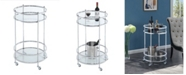 Convenience Concepts Royal Crest Bar Cart With Wheels