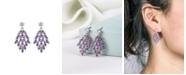 A&M Silver-Tone Amethyst Accent Chandelier Earrings