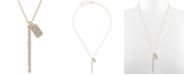 """RACHEL Rachel Roy Gold-Tone Crystal Bar & Box Pendant Necklace, 24"""" + 2"""" extender"""