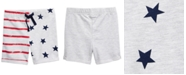 First Impressions Baby Boys Red, White & Blue Printed Shorts, Created for Macy's