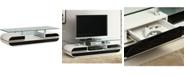 Furniture of America Zaringer Glass Top 63-Inch TV Console