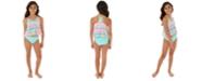 Glitter Beach Big Girls 2-Pc.Babydoll Tankini