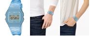 Casio Unisex Digital Blue Jelly Strap Watch 35.2mm