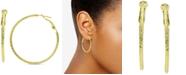 "Giani Bernini Textured Hoop Earrings, 2"" Created for Macy's"