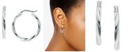 "Giani Bernini Small Twist Hoop Earrings in Sterling Silver, 3/4"", Created for Macy's"