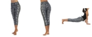 American Fitness Couture High Waist 3/4 Length Compression Snakeskin Leggings