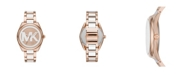 Michael Kors Women's Janelle Three-Hand Two-Tone Stainless Steel Bracelet Watch 42mm MK7134