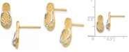 Macy's Flip Flop Earrings in 14K Gold and Rhodium Plating