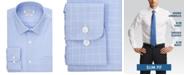 Haggar Men's Comfort Stretch Blue-Check Dress Shirt