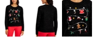 Karen Scott Sequined Holiday Party Sweater, Created for Macy's