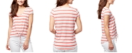 WILLIAM RAST Astrid Striped Tie-Front T-Shirt