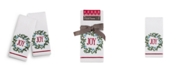 "Martha Stewart Collection Joy Wreath 2-Pc. 11"" x 18"" Fingertip Towel Set, Created for Macy's"