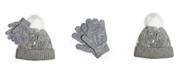 Love 2 Design Big Girls Sequins Beanie Cuff with Magic Gloves, 2 Piece Set