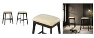 Carolina Classics Lea Upholstered Bar Stool, Set of 2