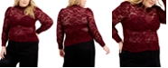 FULL CIRCLE TRENDS Trendy Plus Size Lace Top