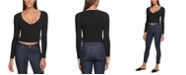 DKNY Jeans Cropped Ribbed-Knit Sweater