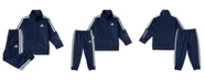 adidas Baby Boys Zip Front Tricot Jacket and Jogger Pants Set