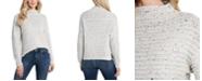 CeCe Mock-Neck Speckled Sweater