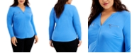 INC International Concepts INC Plus Size Zip-Pocket Top, Created for Macy's