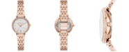 Michael Kors Women's Maisie Three-Hand Rose Gold-Tone Stainless Steel Bracelet Watch 28mm
