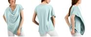 Alfani Asymmetrical Drape Neck Top, Created for Macy's