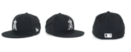 New Era Kids' Los Angeles Angels of Anaheim MLB Black and White Fashion 59FIFTY Cap
