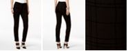 Alfani Flocked Ponte Skinny Pants, Created for Macy's