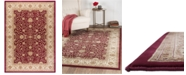 """KM Home CLOSEOUT! Oxford Kashan Red 7'10"""" x 10'3"""" Area Rug"""