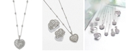 EFFY Collection Bouquet by EFFY® Diamond Heart Pendant Necklace (1-1/8 ct. t.w.) in 14k White Gold