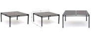 """Furniture Aluminum 62"""" Square Outdoor Dining Table, Created for Macy's"""