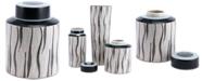Zuo Espiga Large Jar White & Black