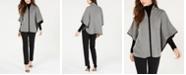Anne Klein Zip-Front Cape, Turtleneck Sweater & Bowie Slim-Fit Pants