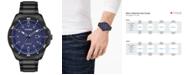 Citizen Drive From Citizen Eco-Drive Men's Black Stainless Steel Bracelet Watch 45mm
