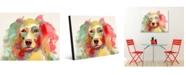 "Creative Gallery Colorful Liberace Watercolor Dog 16"" X 20"" Acrylic Wall Art Print"