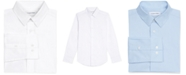 Calvin Klein Little Boys Stretch-Poplin Collared Shirt