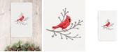 Linum Home CLOSEOUT!  Christmas Cardinal 100% Turkish Cotton Hand Towel