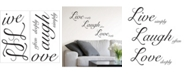 Brewster Home Fashions Live Laugh Love Wall Quote