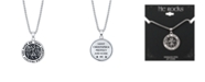 """He Rocks """"Saint Christopher"""" Coin Pendant Necklace in Stainless Steel, 24"""" Chain"""