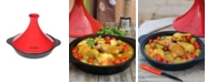 """Chasseur French Enameled Cast Iron 12"""" Tajine with Ceramic Cone Lid"""