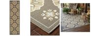 """Oriental Weavers Bali 5863N Gray/Gold 7'10"""" x 7'10"""" Indoor/Outdoor Runner Area Rug"""