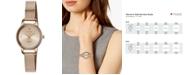 Citizen Women's Quartz Rose Gold-Tone Stainless Steel Mesh Bracelet Watch 26mm