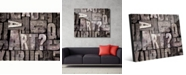 "Creative Gallery Art Box - B&W Text 24"" x 36"" Acrylic Wall Art Print"