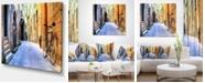 "Design Art Designart Pictorial Street Of Old Italy Cityscape Canvas Art Print - 40"" X 30"""